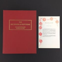 The Big Book Of Buttons 1993 - Elizabeth Hughes Marion Lester - W/ Button Lot