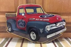 Ford F150 Truck Gas Oil Vintage Style Garage Coupe V8 Parts Ford Motor Company