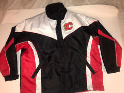 Calgary Flames Nhl Xxl Sewn Letter 4 In 1 Winter Spring Coat Jacket G-111 Vest