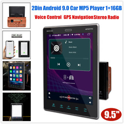 9.5 Multi-touch 2din Voice Control Gps Nav Android Host Car Stereo Radio 1+16gb