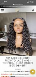 New Black 24andrsquo Tropical Curly Wig Espresso Lace Tint And Curly Cream- Wig Dealer