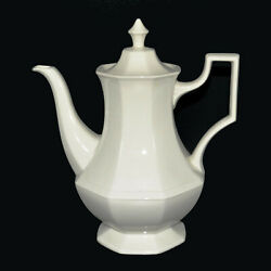 Johnson Bros Heritage White Coffee Pot - Holds 5 Cups - Made In England