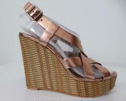 Vince Camuto New Au 259 Us 179.95 Shoes Leather And Fabric Wedges Size 10 M