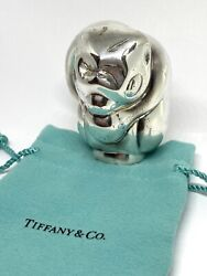 Rare And Co. Sterling Silver Monkey Baby Rattle 101 Grams Collector