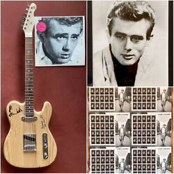 James Dean Collection With Guitar Autographed Photo Album And Stamps