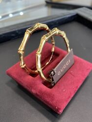 Authentic 18kt Gold Hoop Earrings Model Ybd19033500100u Box And Papers
