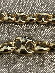 Authentic 18kt Gold Marina Bracelet Model Yba391027 Box And Papers