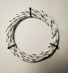 12 Awg Mil-spec Wire Type E Wht/blk Ptfe Stranded Silver Plated Copper 25 Ft