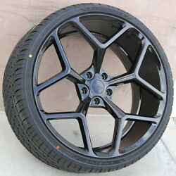 Set Of 4 Wheels And Tires Pkg 22x9.5/22x10.5 5x120 Fit Chevy Camaro Zl1 Edition