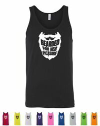 Bearded For Her Pleasure Guys With Beards Mustaches Funny Mens Tank Tops