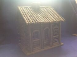 Old Vintage Adirondack Twig Log Cabin Bird House Found In Northern Ny State