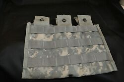 Military Govt Issued 30 Round Triple Mag Pouch In Acu Camo Lot Of 20