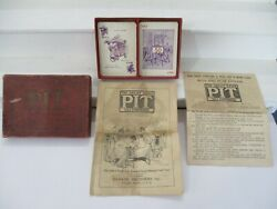 Vintage 1919 Parker Brothers Pit Bull And Bear Edition Card Trading Game