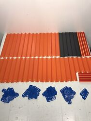 Hot Wheels Replacement Track - Lot Of 44 - Straight And Connectors