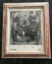 Justin Timberlake And Nsync Fully Signed Rare 8 X 10 Photo W/ Frame