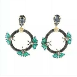 Alexis Bittar New Brutalist Butterfly Clip-on Earrings. Bittar Bag Included Gift