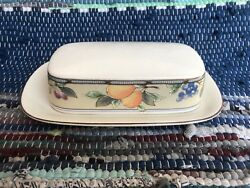 Covered Butter Dish With Lid Set Mikasa Garden Harvest Cac29 Tray Serving