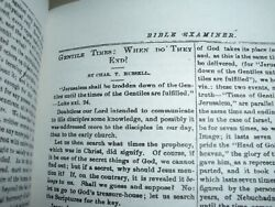 X-rare Bible Examiner 1876 Gentile Times C.t. Russell Leather Bound Watchtower