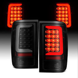 For 1993-1997 Ford Ranger Smoke Black C-bar Led Replacement Taillights Set