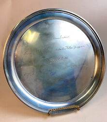 S.kirk And Son Sterling Silver Tray Round Cocktail Tray Platter 432.5 Grams 1957