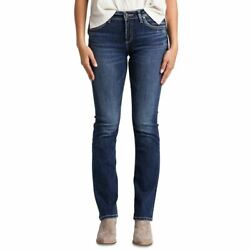 Silver Jeans New Womenand039s Distressed High Rise Curvy Slim Boot Cut Jeans 30 Tedo