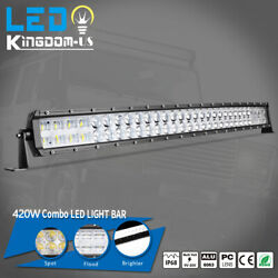 32inch 420w Curved Led Light Bar Spot Flood Combo Offroad Truck Suv Atv 4wd 34