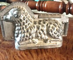 Large Vintage Chocolate Easter Lamb Metal Mold 10x6.5x4 Great Easter Decor