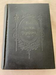 Rare 1898 Antique Cookbook Victorian Cookery Home Household Pastry Recipe