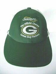 Green Bay Packers Nfl Hat Cap Osfm Adjustable Sargento Official Cheese Head