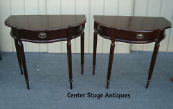 61810 Pair Of Mahogany Bombay Furniture Console Hall Table Stands
