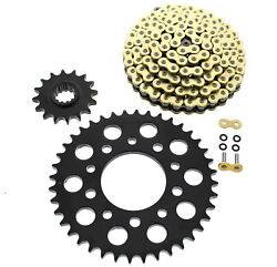 X-ring Chain And Black Sprocket 16/40 120l Sdzz Honda Magna 750 Deluxe 2000-03 Cz