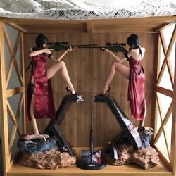 Green Leaf Resident Evil Ada Wong Sexy Zombie Hunter 1/4 Resin Statue 006and007