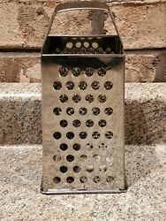 Vintage Stainless 4 Sided Cheese Grater Slicer A9