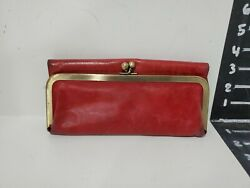 Hobo Womens Red Leather Wallet $17.00