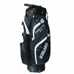 New Solaris Premier 2.0 Golf Cart Bag - 14 Way Top And Front Cooler Pouch