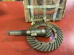 1936 Buick 90 Ring And Pinion 4.551 Ratio Republic Replaces 1399875 Nors