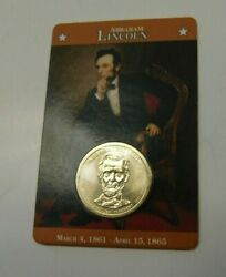2010 Abraham Lincoln 1 Dollar Coin Sealed In Original Fact Card 16th President
