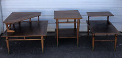 Set Of Three Lane Alta Vista Mid Century Modern End And Side Tables Style No 866