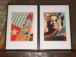 Shepard Fairey Obey - Welcome Visitor - Diptych - S/n/450 - 2017