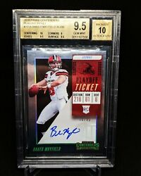 2018 Contenders Baker Mayfield Playoff Ticket Contenders Rc Auto /99 Bgs 9.5/10