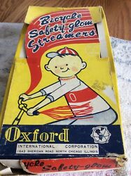 Nos Oxford Bicycle Safety-glow Streamers Store Display Box Made In Japan