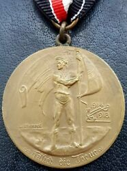 ✚9859✚ German Post Ww1 Naval Veterans League For Valour In The World War Medal