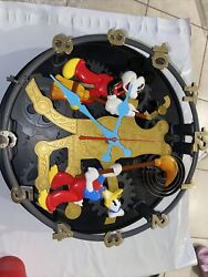 Rare Disney Mickey Mouse Animated Talking Wall Clock Not Working Missing Parts