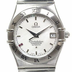 Omega 1516.76 Constellation 2p Ruby White Shell Dial Ss Swiss Limited Model