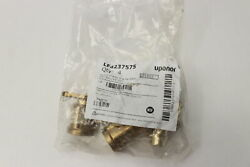 Uponor Drop Ear Brass Elbow 3/4 Pex X 3/4 Fip Lf4237575 4-pack