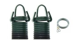 Garage Door Extension Springs 8' Door-220/green Pound Pull With Cablespair