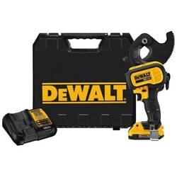 Dewalt 20v Max Acsr Cable Cutting Tool 2.0 Ah With Battery And Kit Box