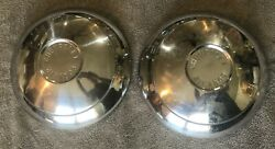 Two 1960-64 Chevrolet Corvair Chrome Dog Dish Baby Moon Style Hubcaps 2 5/16