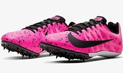 Womenand039s Nike Zoom Rival S 9 Pink Paint Splatter Track Spikes 907565-603