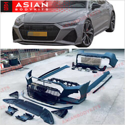 Body Kit Rs7 Style For Audi A7 4k 2018+ Front Bumper Rear Bumper Rear Diffuser